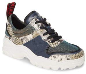 Zadig & Voltaire Blaze Snake Embossed Sneaker