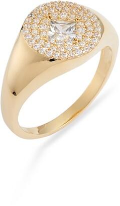 Nordstrom Pave Crystal Signet Ring