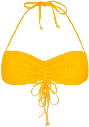 Frankie's Bikinis Ruby ruched bikini top
