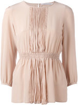 Agnona pleated front blouse