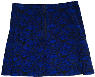 Louis Vuitton Blue Velvet Skirt for Women