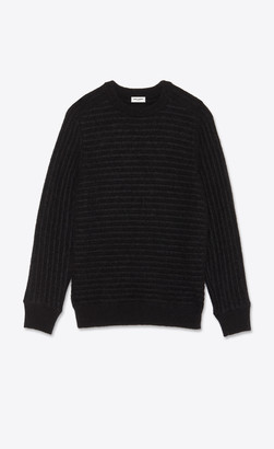 Saint Laurent Sailor Knit Sweater In Wool And Mohair Black L