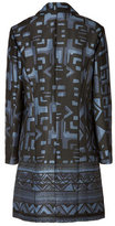 Donna Karan Cotton-Silk Printed Coat