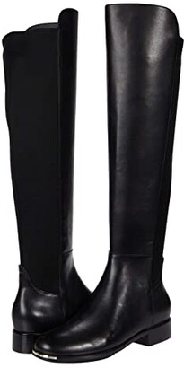 Cole Haan Grand Ambition Huntington Over-the-Knee Boot (Black Princess Leather/Stretch Textile) Women's Boots