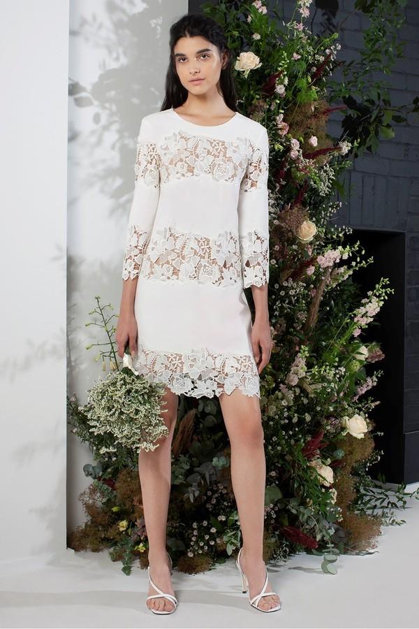 French Connection Fenyala Lace Mix Lace Panel Dress