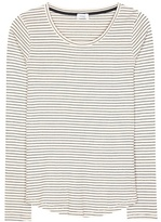 Closed Striped Cotton-blend Top