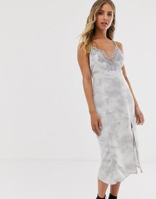 Free People Chasing Shadows tie dye slip dress-Grey