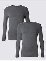 M&s Collection 2 Pack Heatgentm Long Sleeve Vests