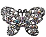 AJ Fashion Jewellery ISSORIA Antique plated AB Crystal Butterfly Brooch