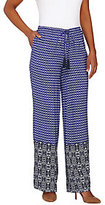 As Is Isaac Mizrahi Live! Regular Geo Print Wide Leg Pants