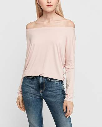 Express Off The Shoulder Long Sleeve London Tee