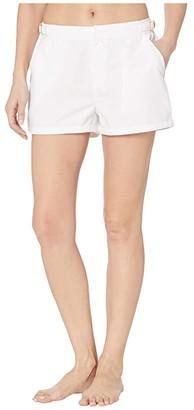 Cabana Life Essentials Microfiber Swim Shorts Bottoms (White) Women's Swimwear