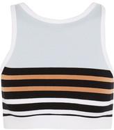 Alexander Wang Striped Stretch-Cotton Sports Bra