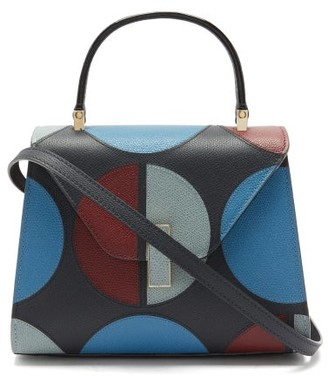 Valextra X La DoubleJ Iside Small Leather Bag - Navy Multi