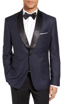 JB Britches Men's Classic Fit Dot Wool Dinner Jacket