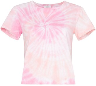 RE/DONE cropped tie-dye T-shirt