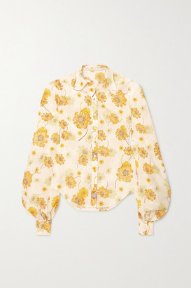 The Vampire's Wife Mcloughland Floral-print Cotton Shirt - Ecru