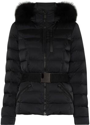 Goldbergh Soldis belted faux fur ski jacket