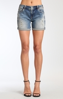 Mavi Jeans Pixie Shorts In Mid Ripped Patch Vintage