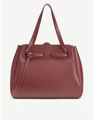 Loewe Lazo leather shopper tote