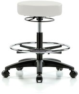 Height Adjustable Stool with Foot Ring Perch Chairs & Stools Color: Adobe White Vinyl