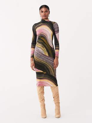 Diane von Furstenberg Nava Merino Fitted Sweater Dress
