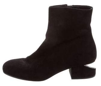 Alexander Wang Suede Round-Toe Ankle Boots