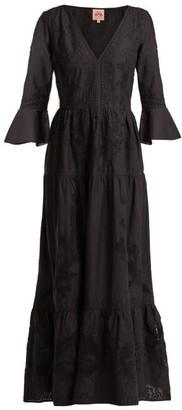 Le Sirenuse Le Sirenuse, Positano - Bella Broderie-anglaise Cotton Dress - Womens - Black