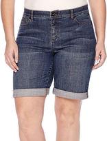 Liz Claiborne Denim Bermuda Shorts - Plus