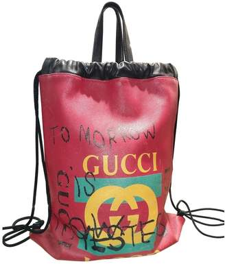 Gucci Red Leather Bags