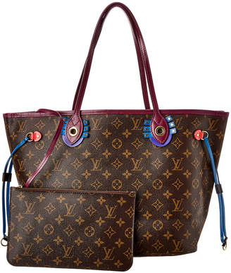 Louis Vuitton Monogram Canvas Totem Neverfull Mm Nm