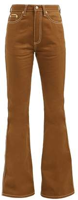 Eytys Oregon High-rise Flared Jeans - Womens - Brown