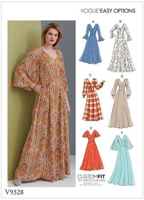 Vogue Women's Maxi Dress Sewing Pattern, 9328