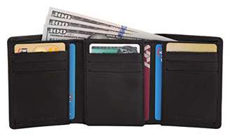 LEATHER ARCHITECT-Men's 100% Leather Trifold Wallet with over flap-
