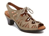 Cobb Hill 'Sasha' Caged Leather Peep Toe Sandal