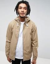 Pull&Bear Zip Through Hooded Jacket In Tan