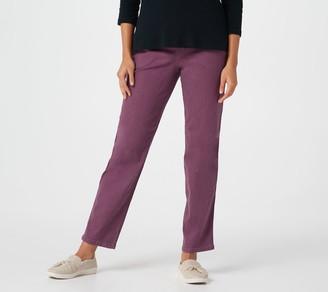 "Denim & Co. 'How Timeless"" Petite 4-Pocket Pull-On Jeans"