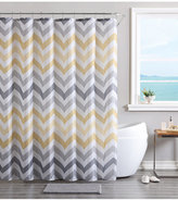Victoria Classics Vcny Chevron Bath Rug, Shower Curtain and Shower Hooks Set Bedding