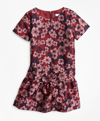 Brooks Brothers Girls Jacquard Drop Waist Dress