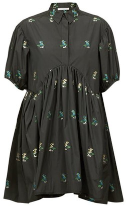 Cecilie Bahnsen Esther Hawthorn Floral Poplin Shirt Dress - Black Multi