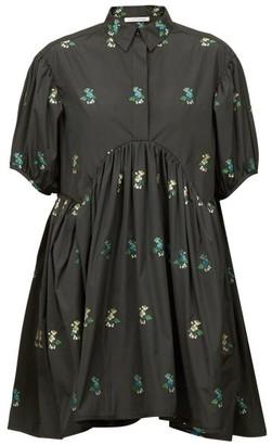 Cecilie Bahnsen Esther Hawthorn Floral Poplin Shirt Dress - Black Multi
