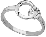 Seraphina Sterling Silver and CZ Double Round Ring
