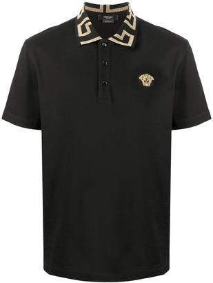 Versace Greca collar polo shirt