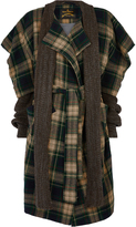 Vivienne Westwood Dionysian Coat Black/Beige Tartan Size S
