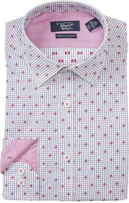 Original Penguin Dot Grid Heritage Slim Fit Dress Shirt