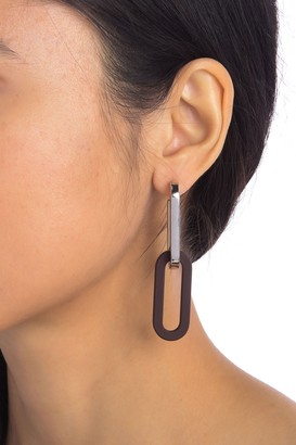 Burberry Two-Tone Chain Link Earrings