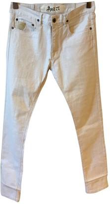 April 77 White Cotton - elasthane Jeans for Women