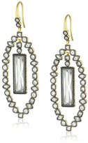 Freida Rothman Gold-Plated Sterling Silver and Cubic Zirconia Drop Earrings