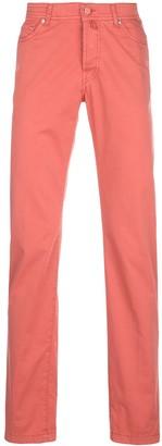 Kiton Plain Straight-Leg Trousers