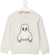 Moncler embroidered yeti sweatshirt - kids - Cotton/Acrylic/Polyester - 4 yrs